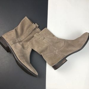 Vince Camuto Fanti Tan Suede Slouch Booties